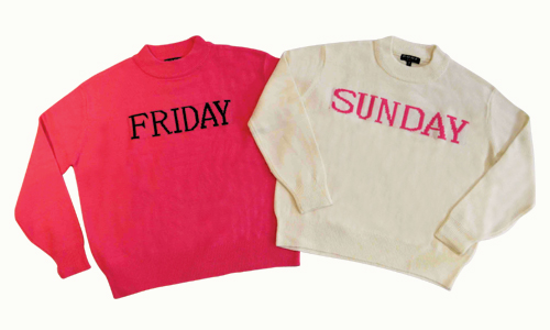 Every Day  of the Week Sweater