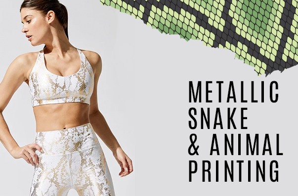 The Metallic Snake Print